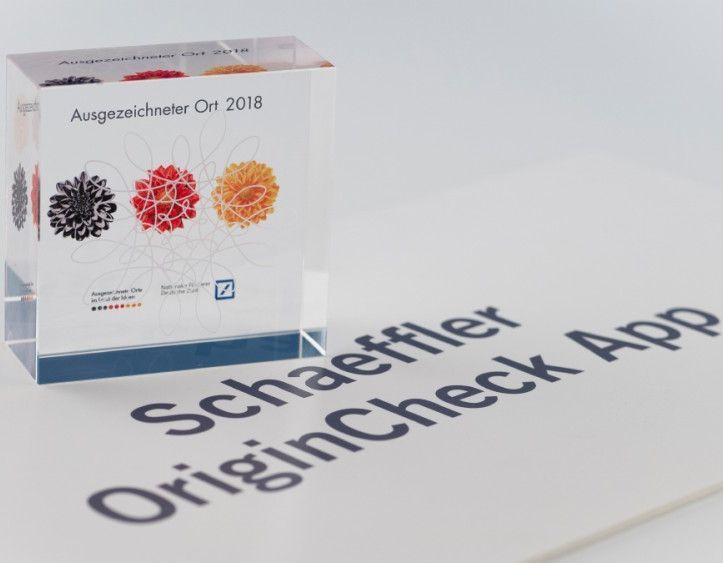 Auf oneIDentity+ basierende Schaeffler OriginCheck App erhielt Auszeichnung